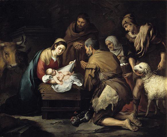 La adoración de los pastores. Murillo. Madrid, Museo del Prado.