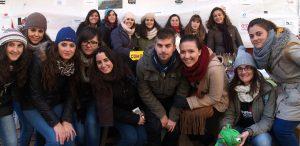 Alfredo (centro) e Isabel (detrás la primera de la derecha) con el resto de participantes de Educación Social