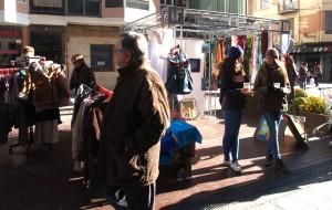 Sección Textil del mercadillo