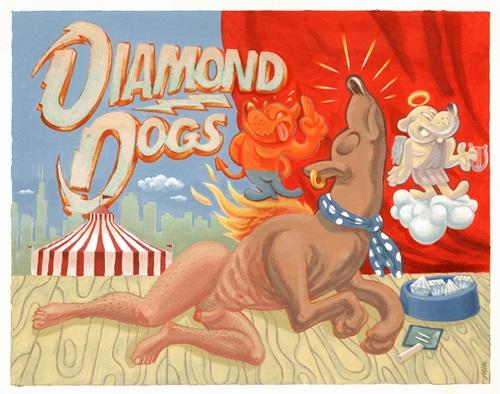 Diamond Dogs por Mik Baro.