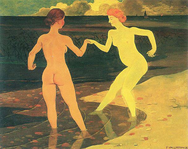 Dama y criada bañándose', 1896. Félix Vallotton