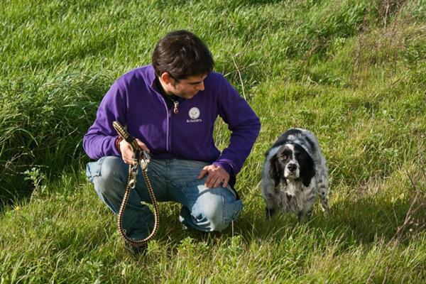 Pablo y Lico disfrutando de un paseo