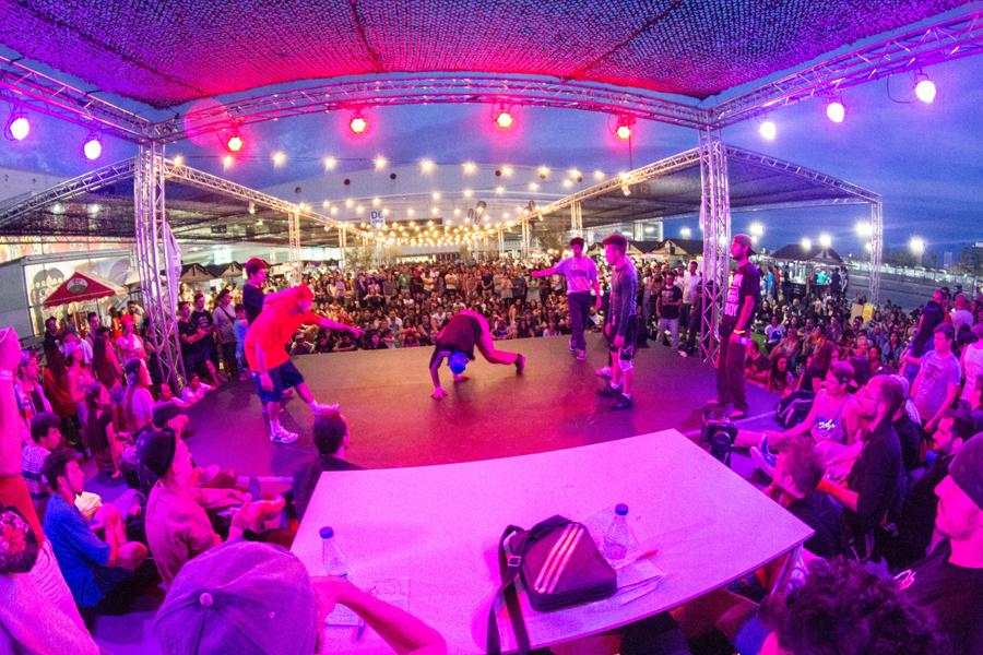 Espacio para el breakdance en Mulafest.