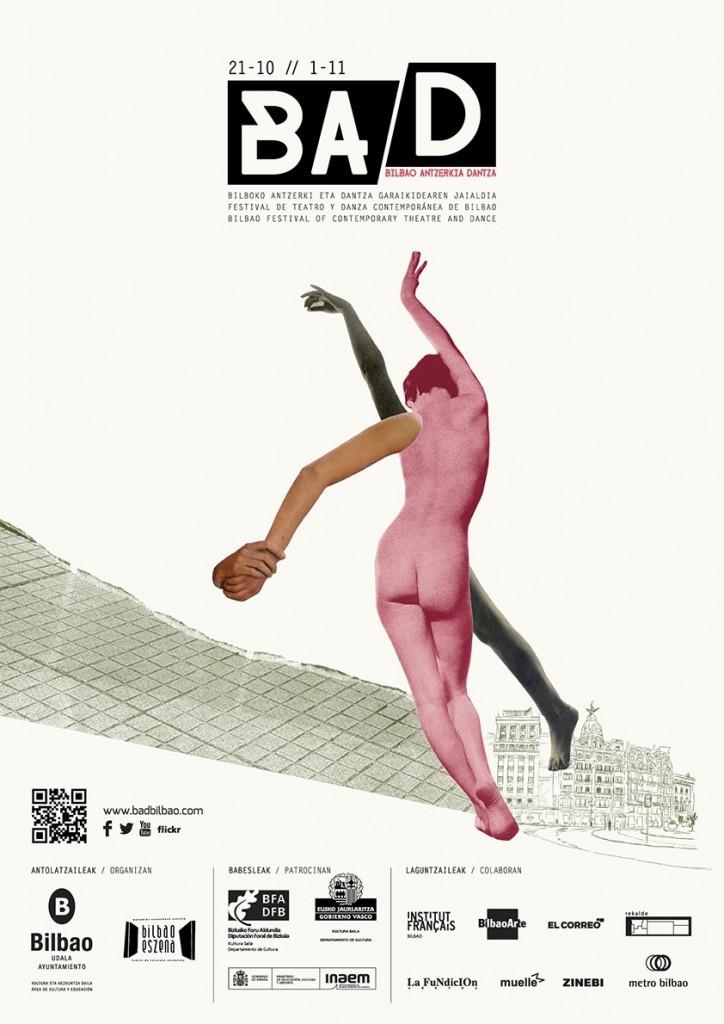 Cartel del festival de teatro y danza BAD Bilbao 2015