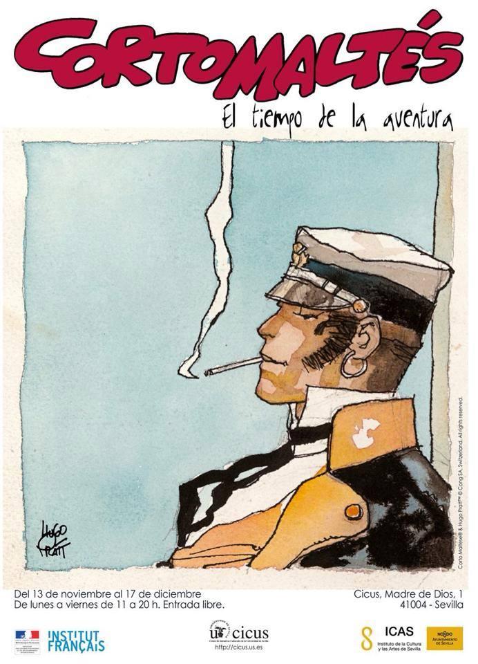 Cartel de la exposición sobre 'Corto Maltés'