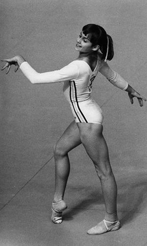 La gimnasta rumana Nadia Comaneci.