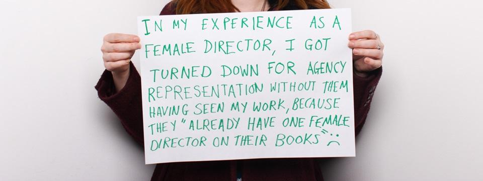 Catherine Bigelow relata su experiencia en un póster.