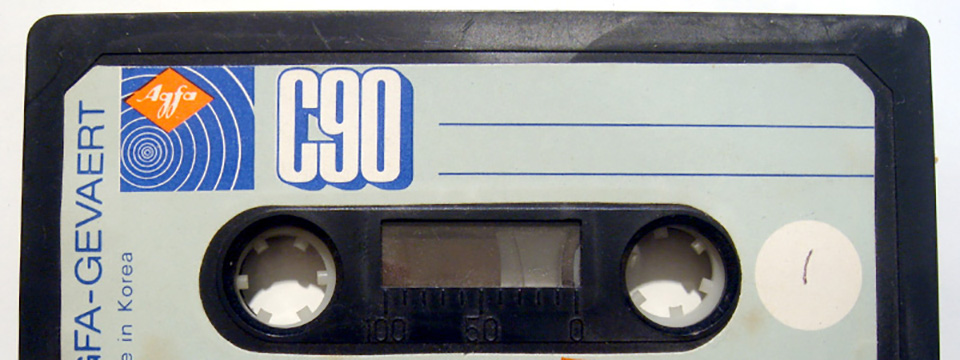 Una vieja cinta de cassette.