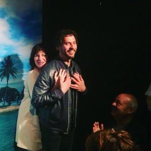 Maite Sandoval y Paco León en Microteatropordinero.
