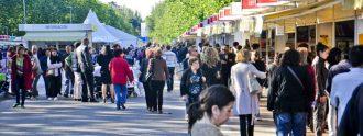 Casetas de la Feria del Libro de Madrid.