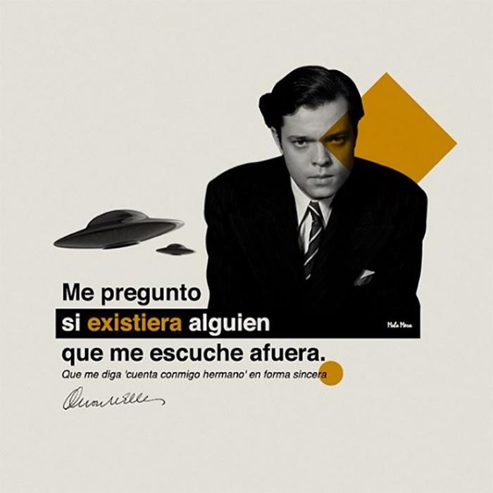Orson Welles feat. Daddy Yankee y los extraterrestres.