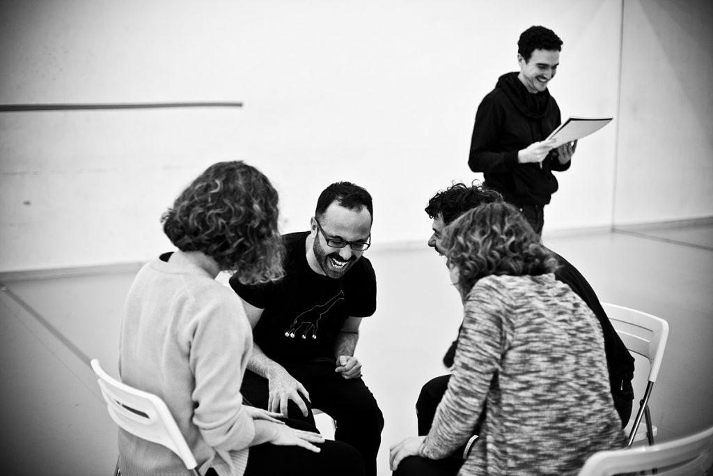 Durante los ensayos de 'Pretérito Imperfecto'. Foto: Owain Shaw.