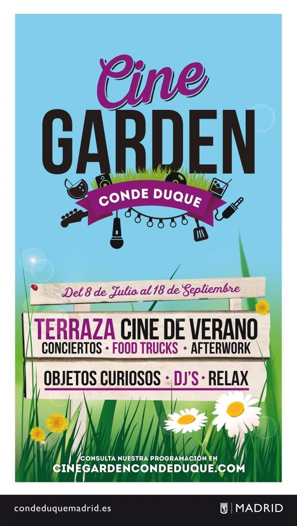 Cartel del Cine Garden Conde Duque 2016.