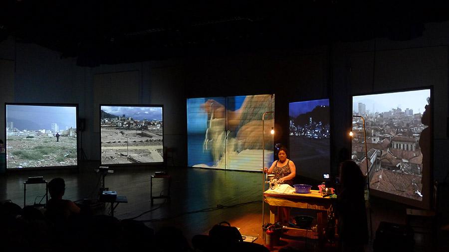 Escenografía de 'Testigo de las ruinas', de Mapa Teatro.