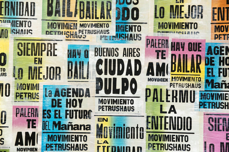 Distintos afiches del Movimiento Petrushaus.