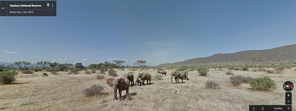 Parque natural de Samburu desde Street View.