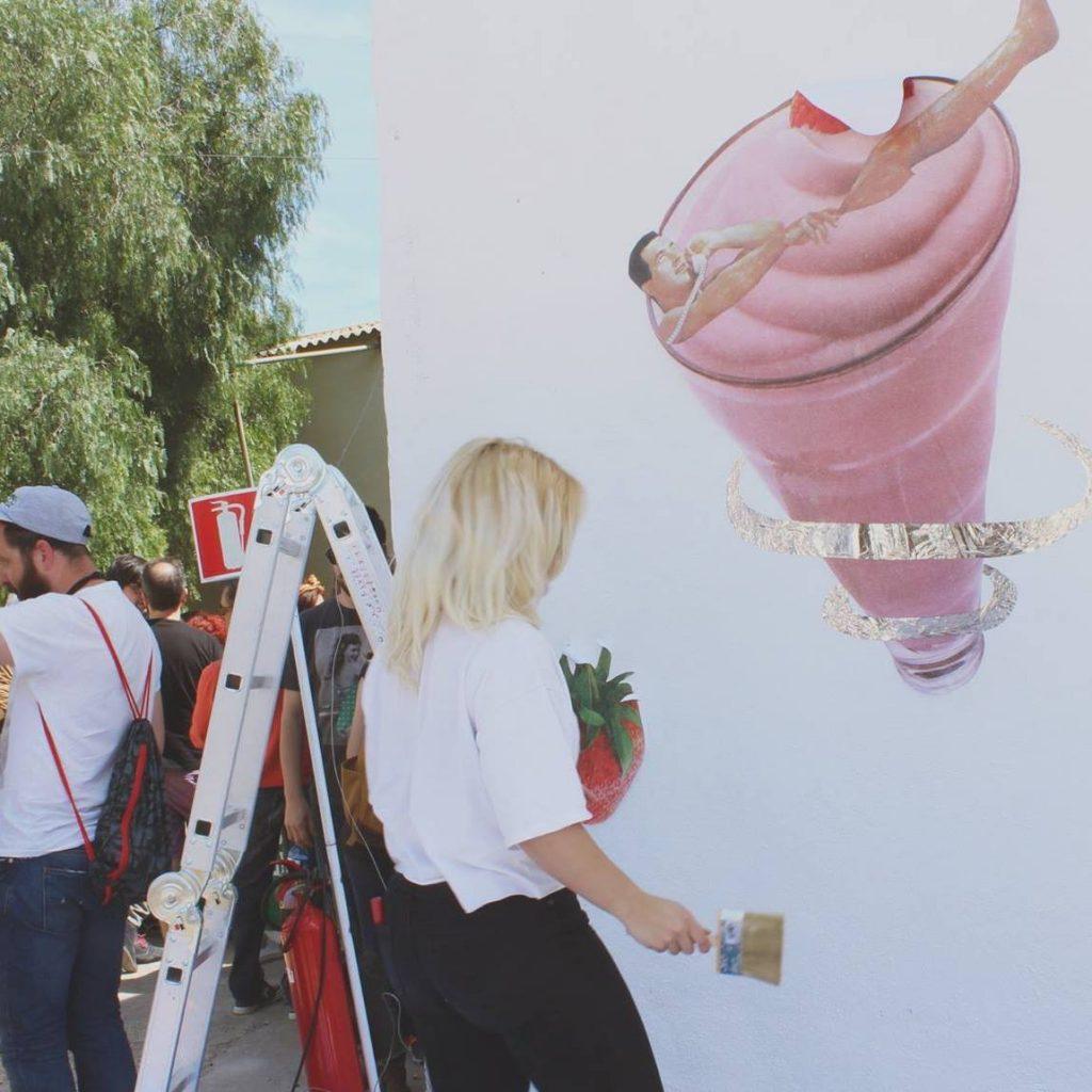 Los collages de Bungle también han llegado al formato mural.