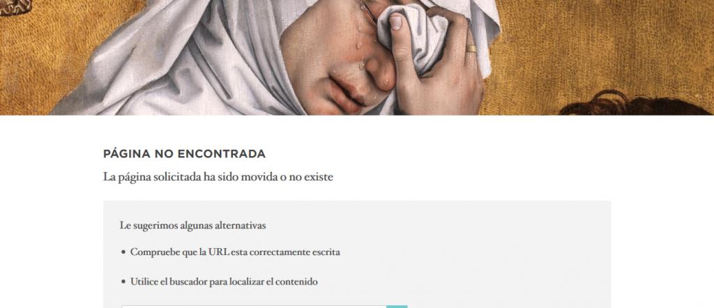 Error 404 Museo Nacional del Prado.