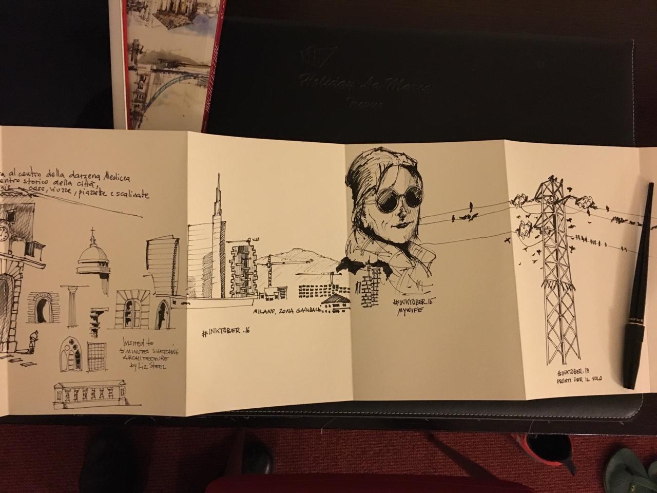 Obra de Matteo Tarenghi para #inktober2016.