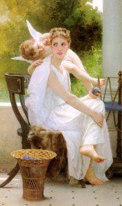 'Penélope y su hijo, Telémaco', William Bouguereau.