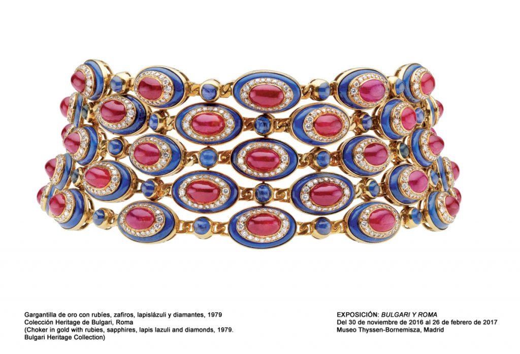 Gargantilla de la colección Heritage de Bulgari.