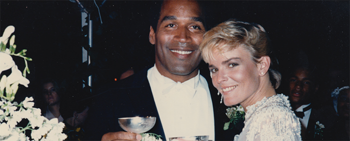 OJ Simpson y Nicole Brown, el día de su boda.