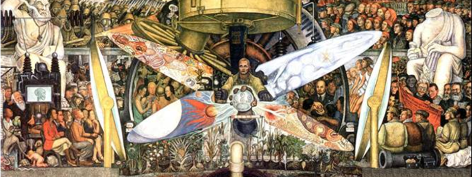 'El hombre controlador del universo', Diego Rivera.