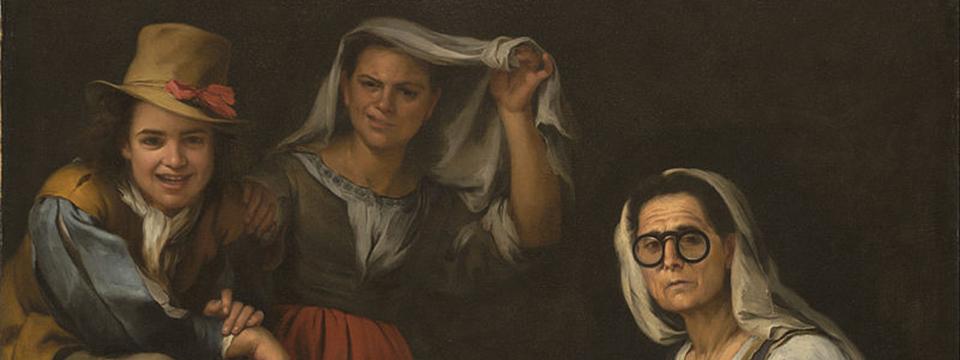 'Cuatro figuras en un escalón', Murillo.