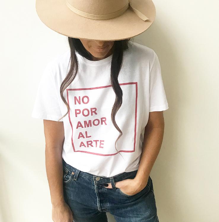 no por amor al arte camiseta