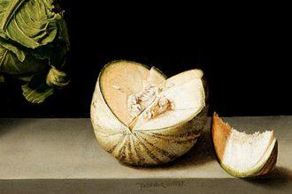 Bodegón 'Membrillo, repollo, melón y pepino', Sánchez Cotán.