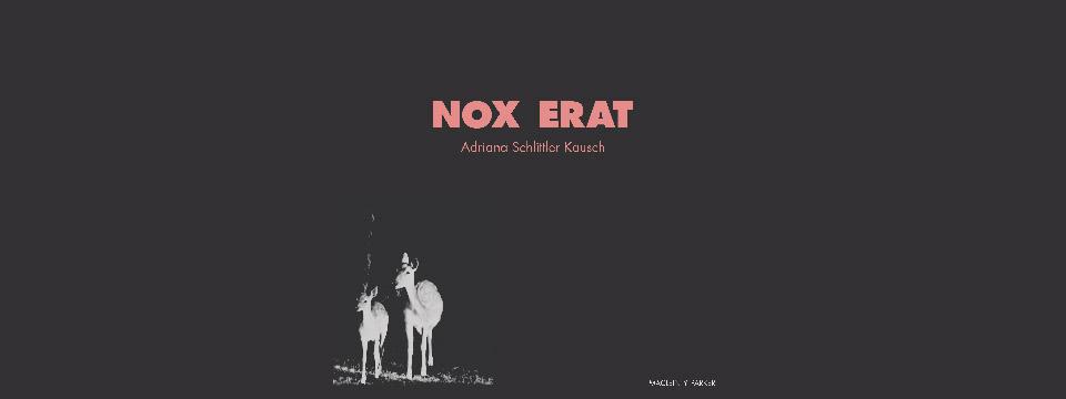 Portada de 'Nox erat'.