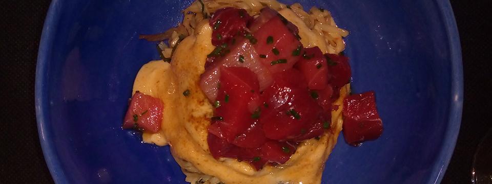 Noodles con atún rojo del restaurante Toga.