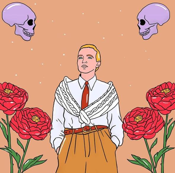 Villanelle en 'Killing eve' por la ilustradora Miriam Persand.