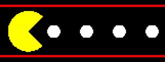 Videojuego Pac Man.