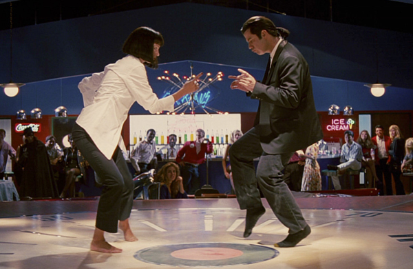 Baile entre Uma Thurman y John Travolta en 'Pulp Fiction'