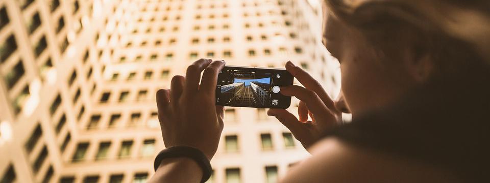 Turistas en Instagram.
