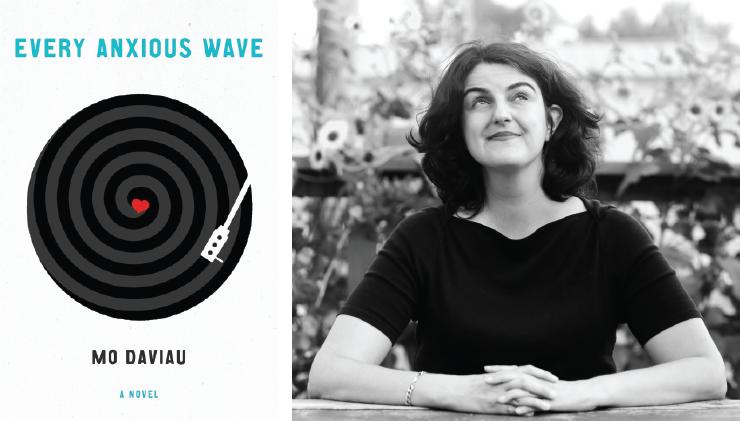 La autora Mo Daviau y la portada del libro en USA.