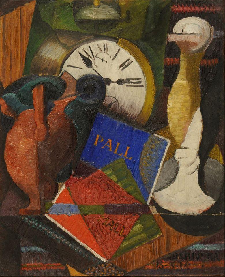 Composición con reloj, Diego Rivera.