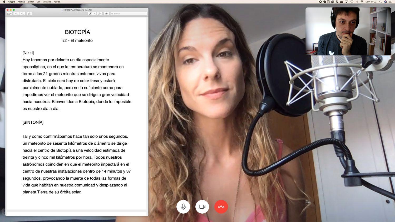 Nikki García grabando 'Biotopía'.