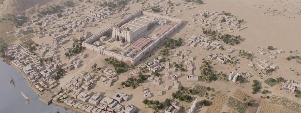 Patrimonio virtual. Recreación de la ciudad egipcia de Elefantina.