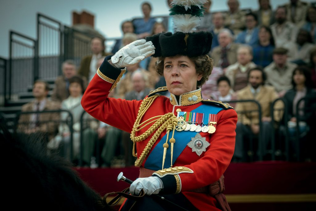 La Reina de Inglaterra en 'The Crown'.