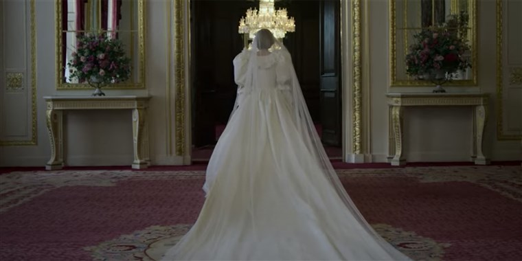 La boda de los Príncipes de Gales en 'The Crown'.