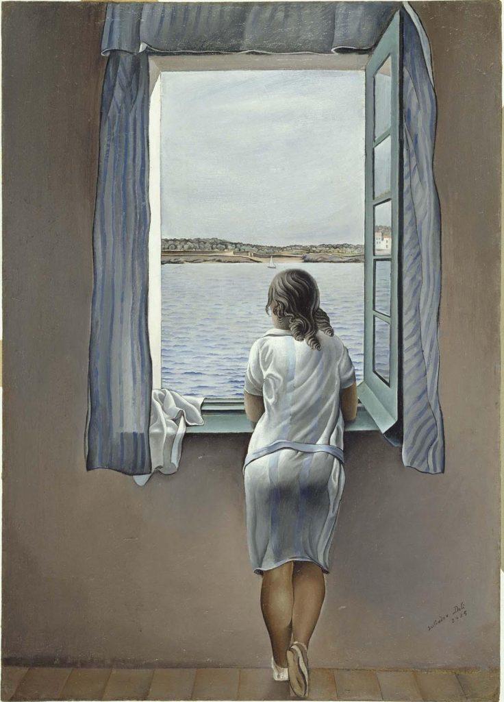 'Figura en una ventana', Dalí.