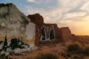 La muralista María Gomes convierte el palomar de Alcobendas en un libro de cuentos