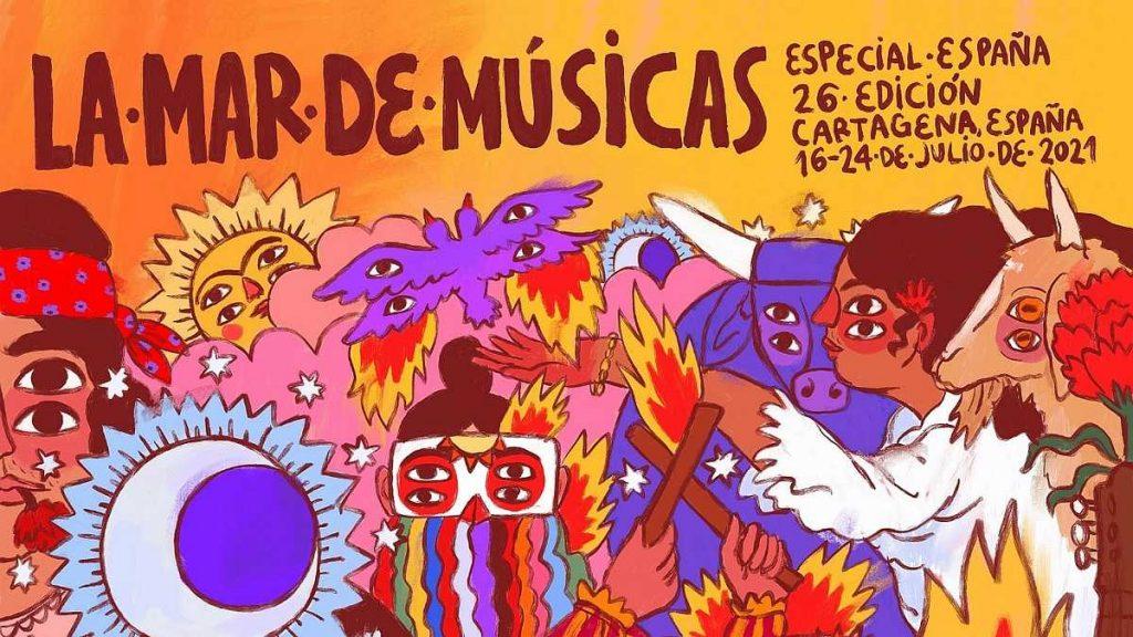 La Mar de Músicas de Cartagena. Cartel de Ricardo Cavolo.