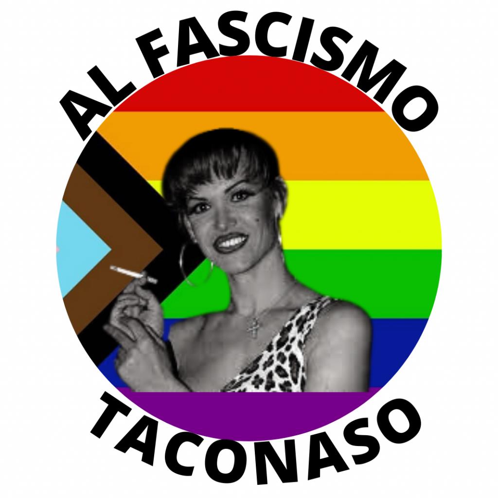 La Veneno pegatina antifascista