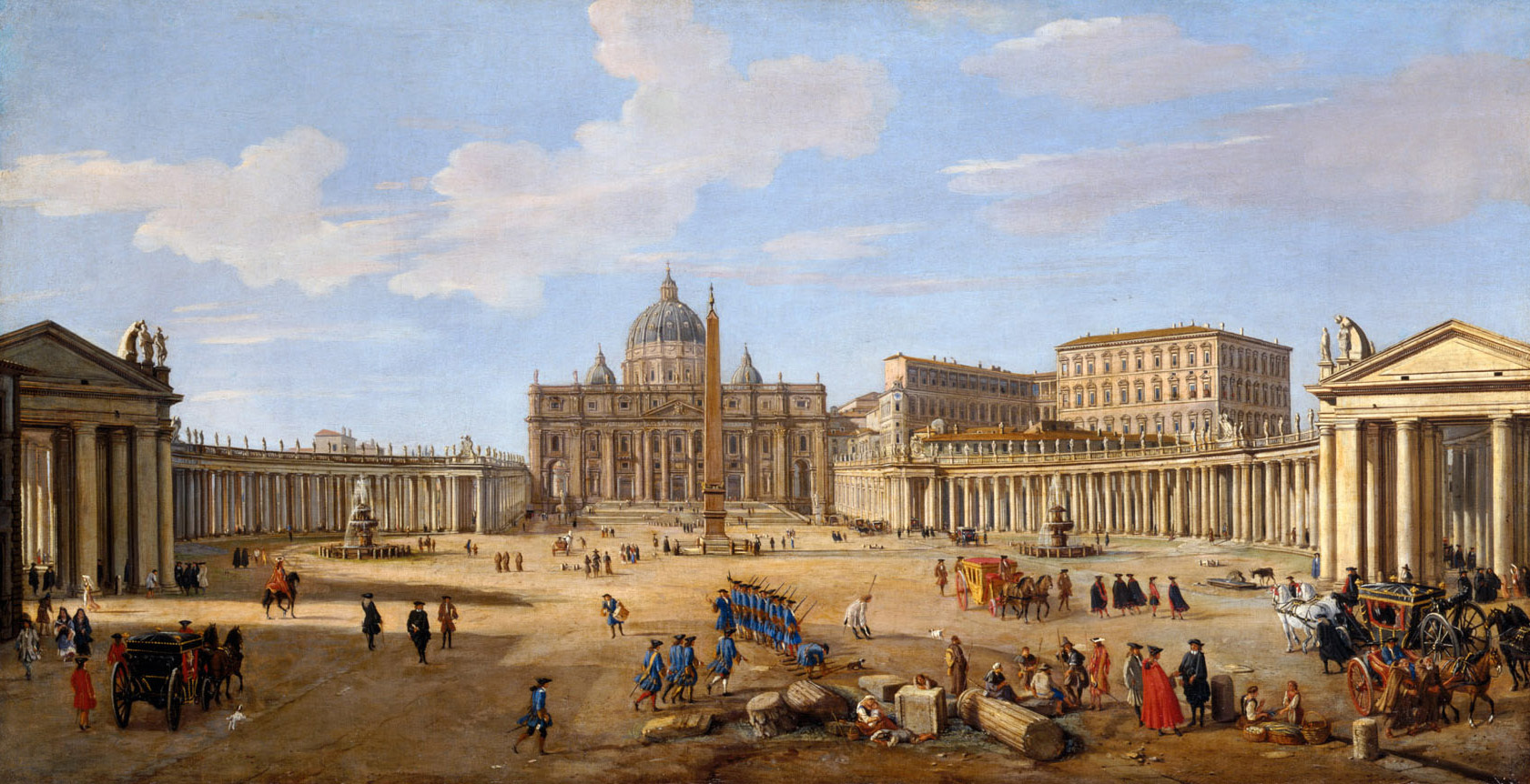 Veduta de Roma de Gaspar Van Wittel.